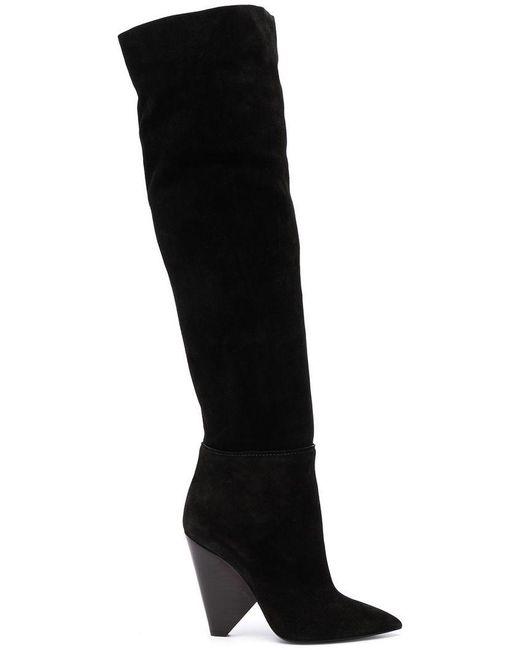 4a64e3a0ddb Saint Laurent - Black Stivale Boots - Lyst ...