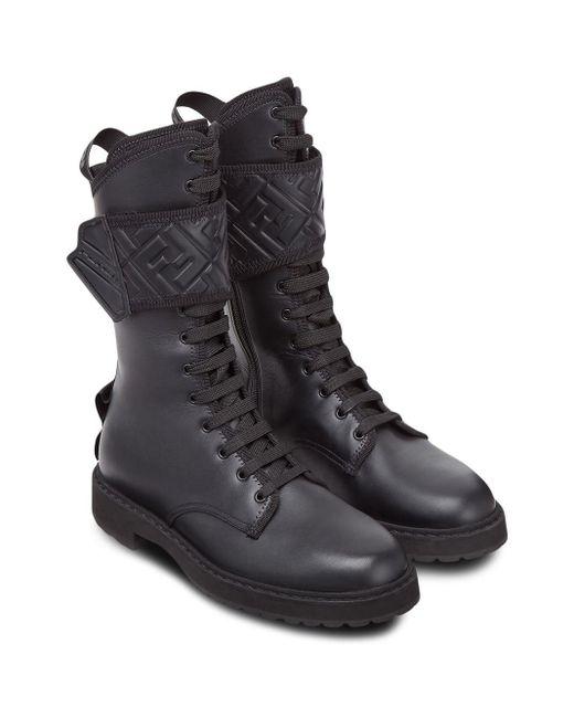 Высокие Ботинки Fendi, цвет: Black