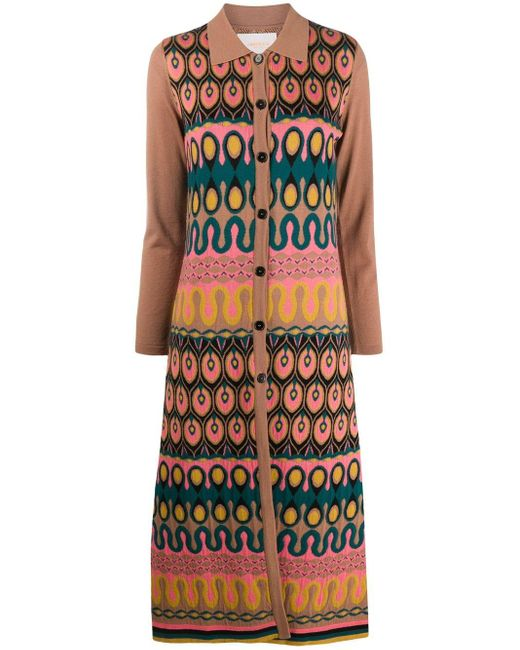 LaDoubleJ Brown Knitted Button-up Dress