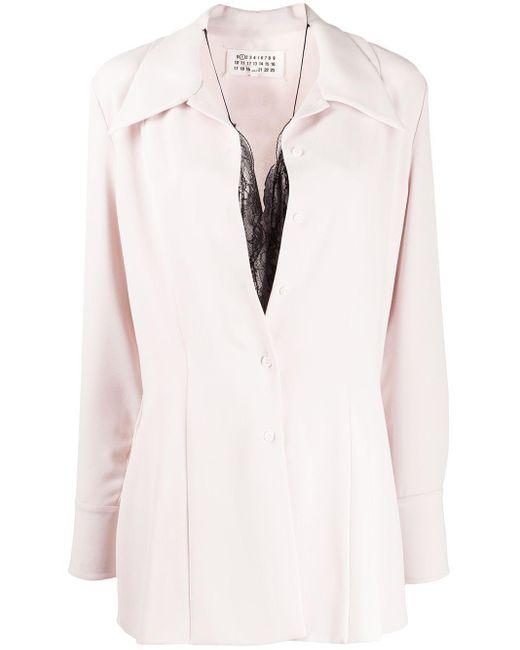 Maison Margiela レイヤード シャツ Pink