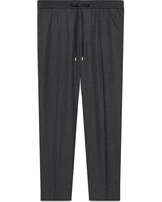 メンズ Gucci 【公式】 (グッチ)ウール テーラード ジョギングパンツダークグレー ウールグレー Gray