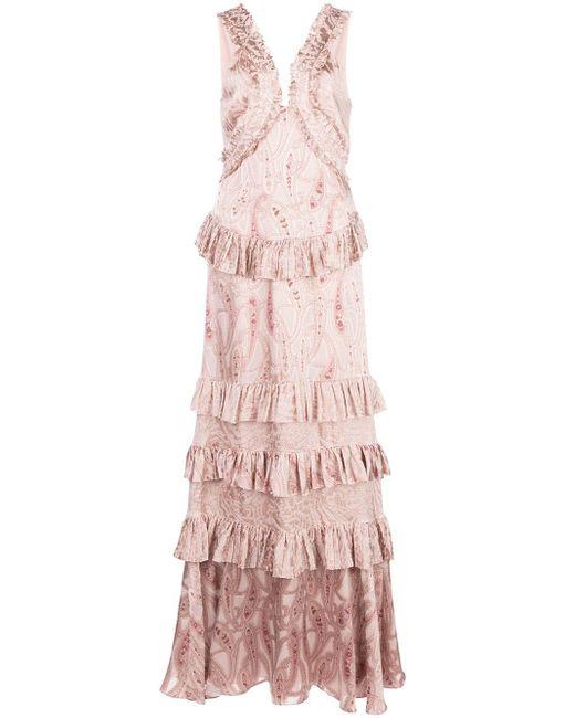 Alexis Rafaela ラッフル ドレス Pink