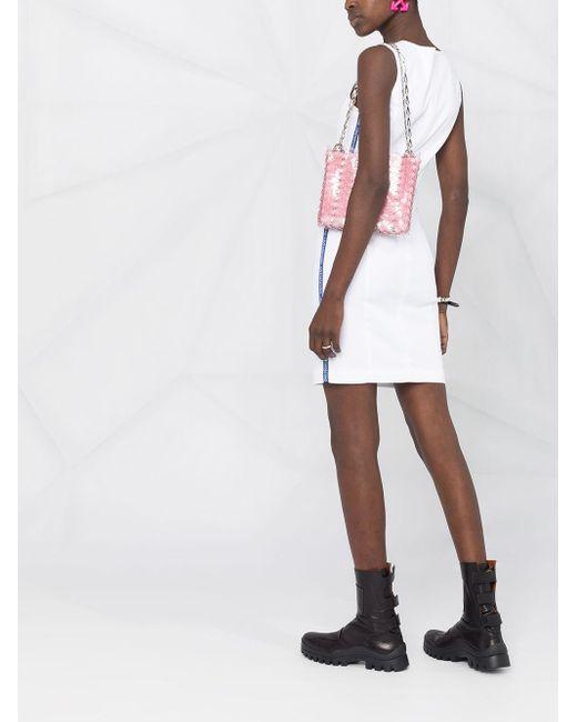 Love Moschino ロゴトリム ドレス White