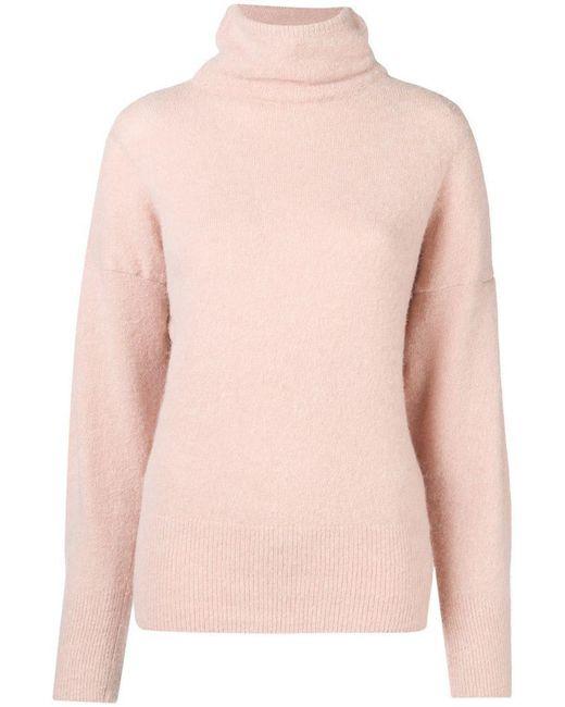 Dagmar - Pink Ester Turtleneck Brushed Sweater - Lyst