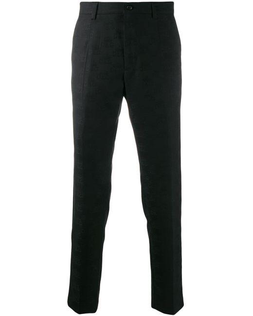 メンズ Dolce & Gabbana モノグラム テーラードパンツ Black