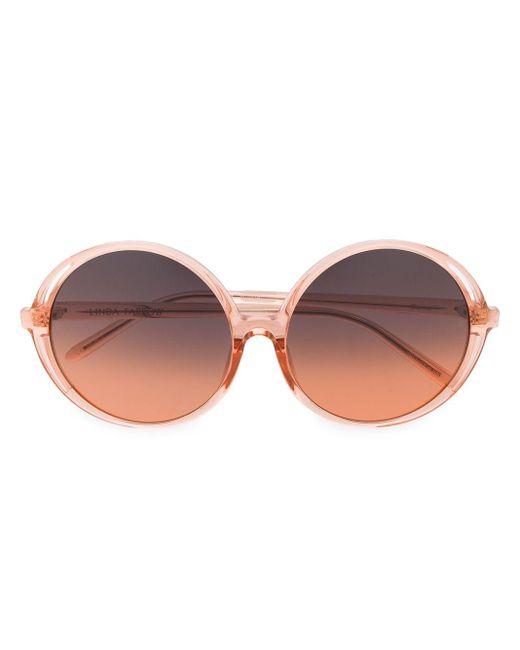 Linda Farrow Bianca ラウンド眼鏡フレーム Orange