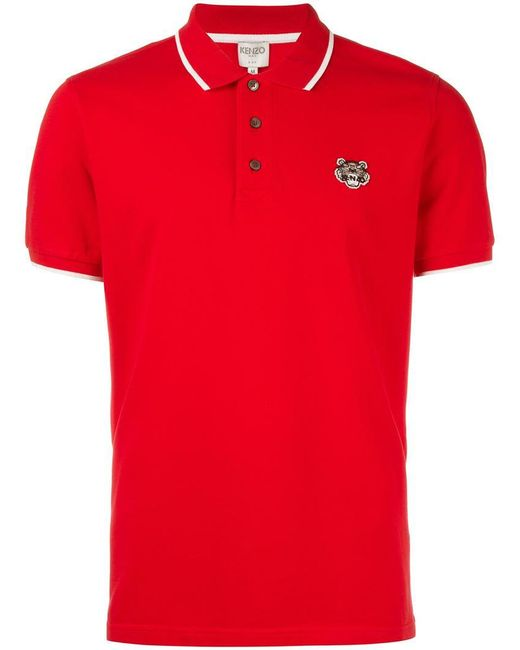 Kenzo Mini Tiger Polo Shirt in Red for Men