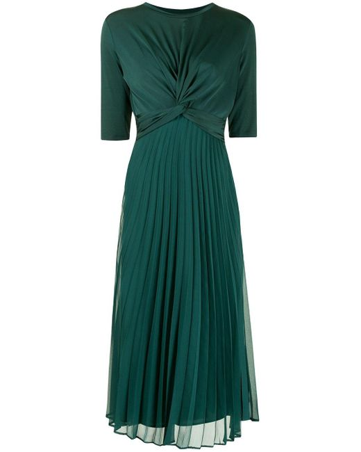 Armani Exchange プリーツ ツイスト ドレス Green
