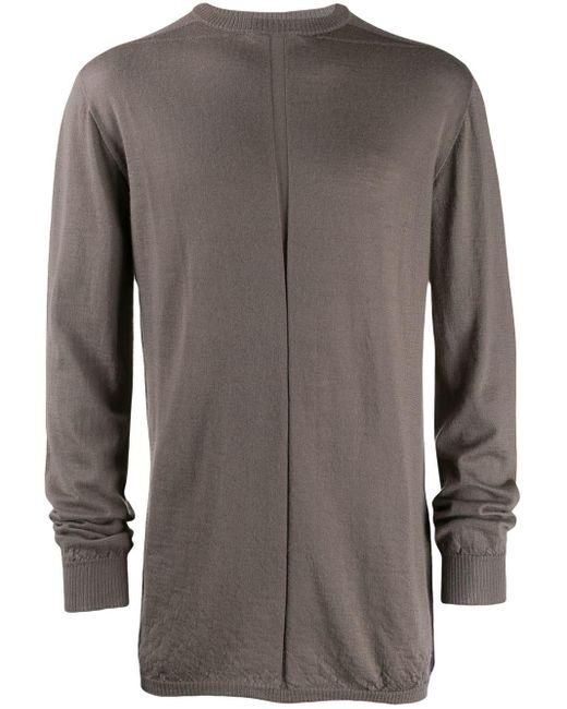 メンズ Rick Owens ラウンドネック スウェットシャツ Gray