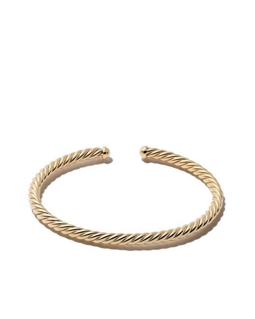 David Yurman Cable Spira カフブレスレット 18kイエローゴールド Metallic