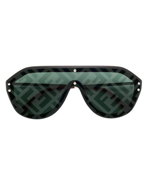 Fendi Black Aviator Style Sunglasses
