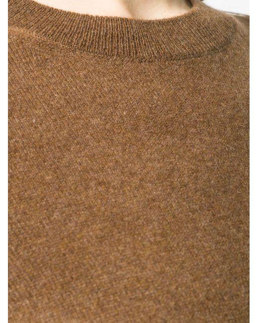 Кашемировый Джемпер С Круглым Вырезом Vince, цвет: Brown