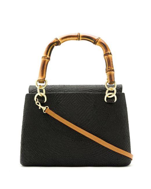Serpui Black Leona Tote Bag