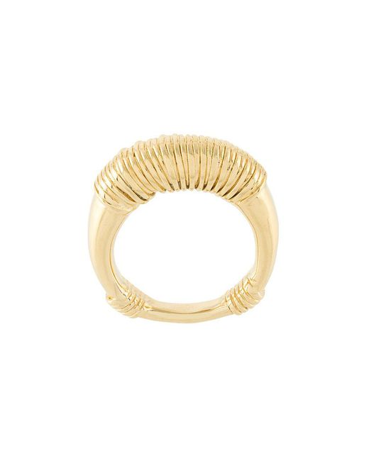 Aurelie Bidermann | Metallic Alhambra Ring | Lyst