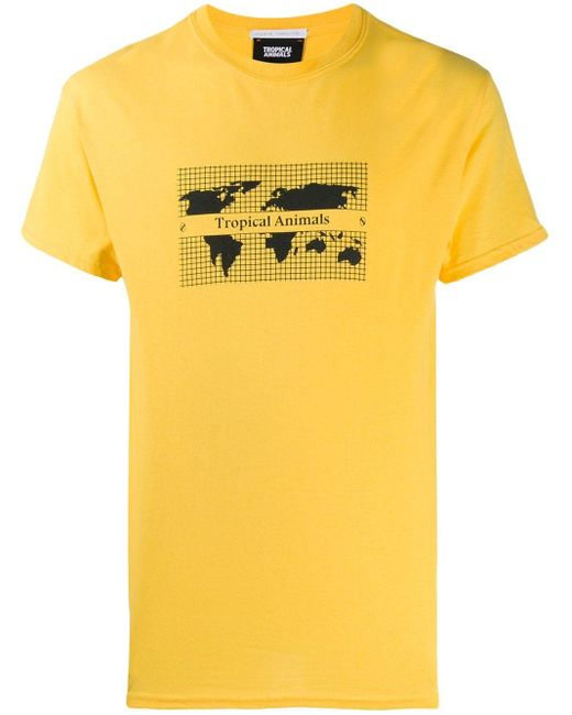 メンズ Societe Anonyme プリント Tシャツ Yellow