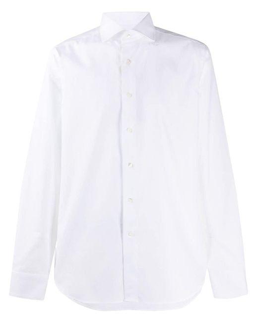 Рубашка На Пуговицах Canali для него, цвет: White