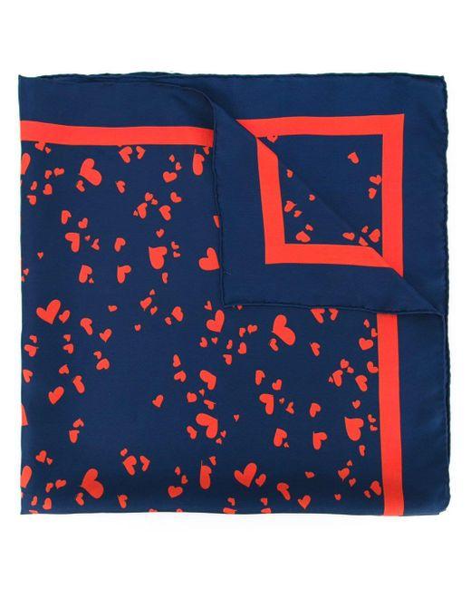 Macgraw ハートプリント スカーフ Blue