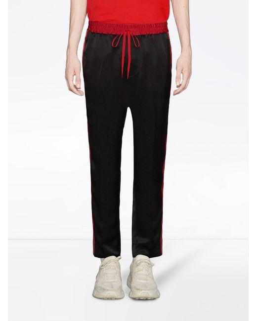 メンズ Gucci ジョギングパンツ Black