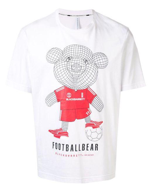 メンズ Neil Barrett Footballbear Tシャツ White