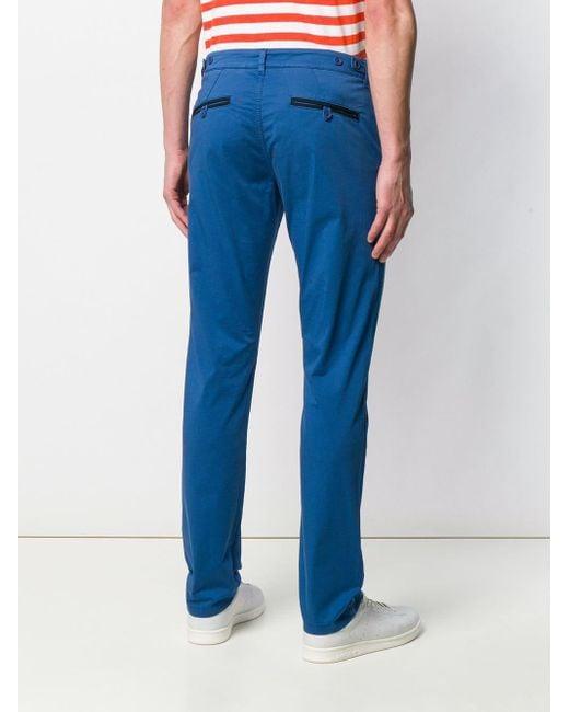 Karl Lagerfeld Pantalon chino classique homme de coloris bleu