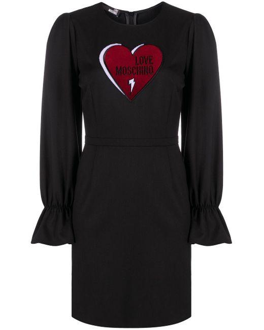 Love Moschino ハート ドレス Black