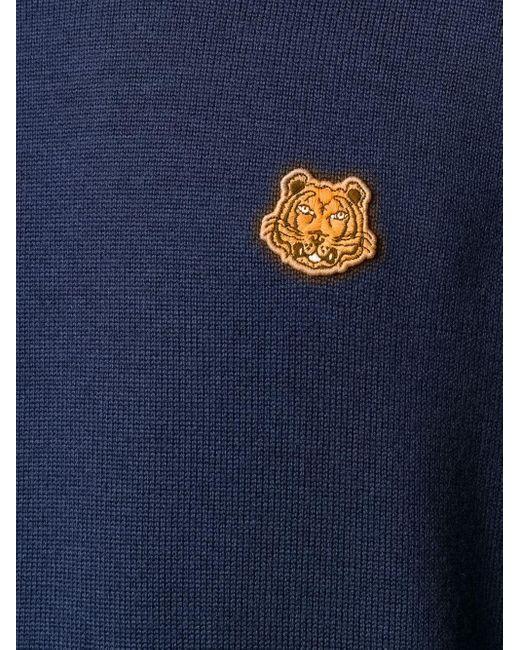 メンズ KENZO タイガーモチーフ プルオーバー Blue
