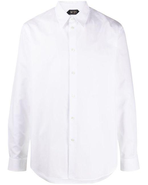 メンズ N°21 ポインテッドカラー シャツ White