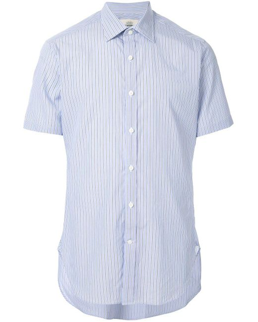 メンズ Kent & Curwen ストライプ ポロシャツ Blue