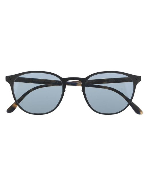 メンズ Giorgio Armani オーバルフレーム サングラス Black