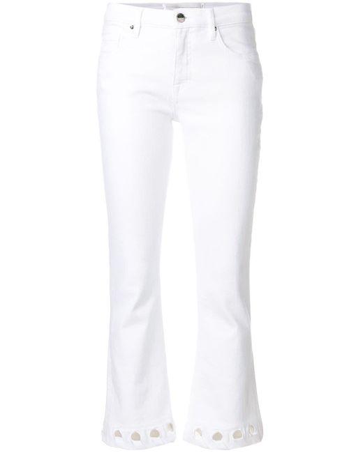Укороченные Джинсы С Вырезами Victoria, Victoria Beckham, цвет: White
