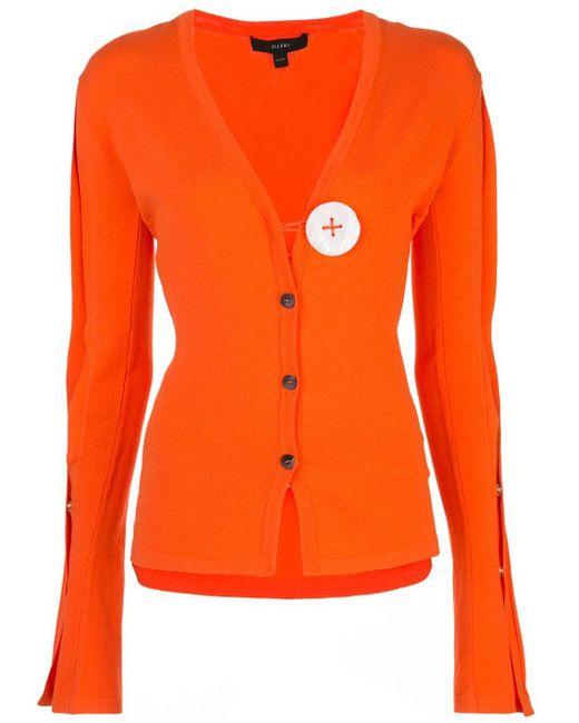 Ellery コントラストボタン カーディガン Orange
