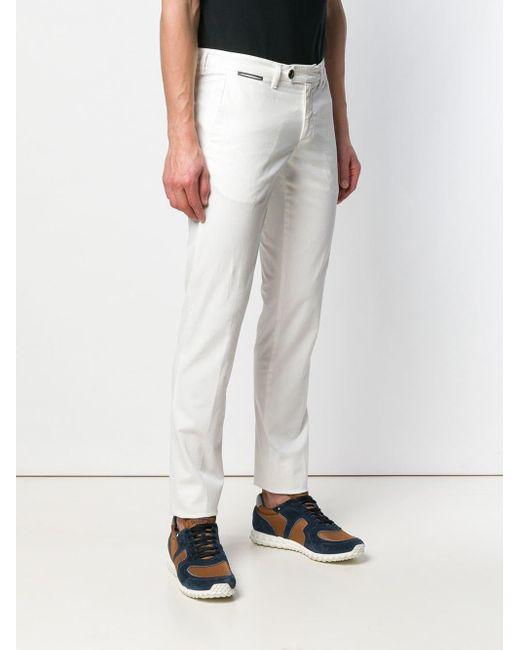 メンズ Eleventy ストレートパンツ White