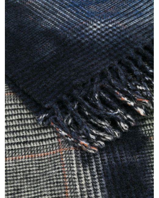 Faliero Sarti チェック スカーフ Blue