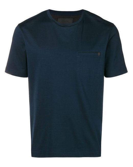 メンズ Prada ラウンドネック Tシャツ Blue
