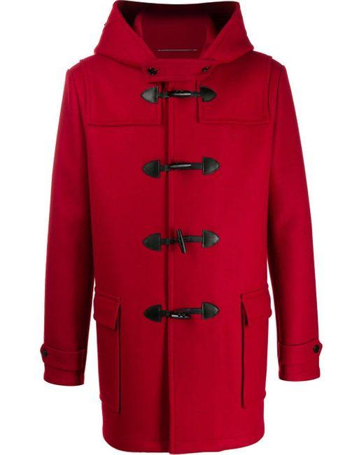 Дафлкот С Капюшоном Saint Laurent для него, цвет: Red