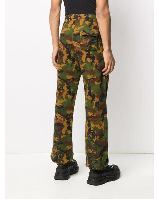 Off-White c/o Virgil Abloh Jogginghose mit Camouflage-Print in Green für Herren