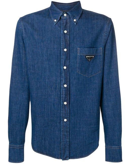メンズ Prada デニムシャツ Blue