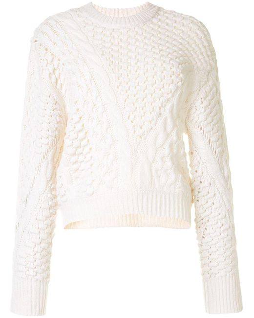 Пуловер С Круглым Вырезом 3.1 Phillip Lim, цвет: White