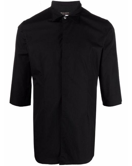 メンズ Comme des Garçons ボタン シャツ Black