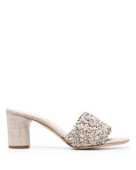 Casadei Multicolor Spike-stud Embellished Sandals