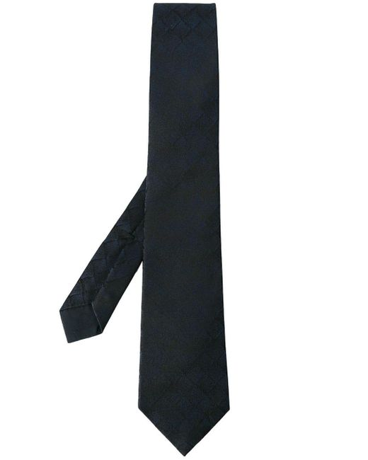 Bottega Veneta Blue Square Pattern Tie for men