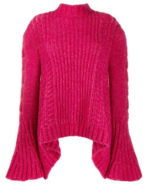 Stella McCartney Pink Bell Sleeved Jumper