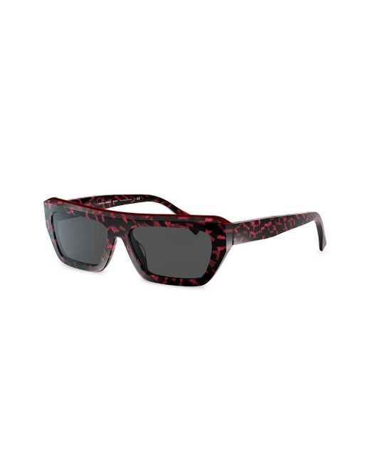 Alain Mikli Women's Grey Armitage Rectangular-frame Sunglasses
