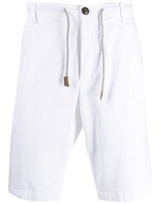 メンズ Eleventy ドローストリング チノショーツ White