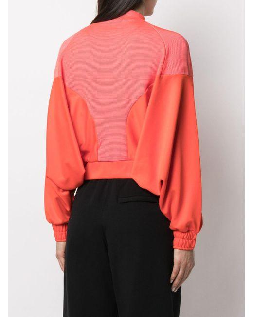 Adidas バイカラー ジャケット Orange