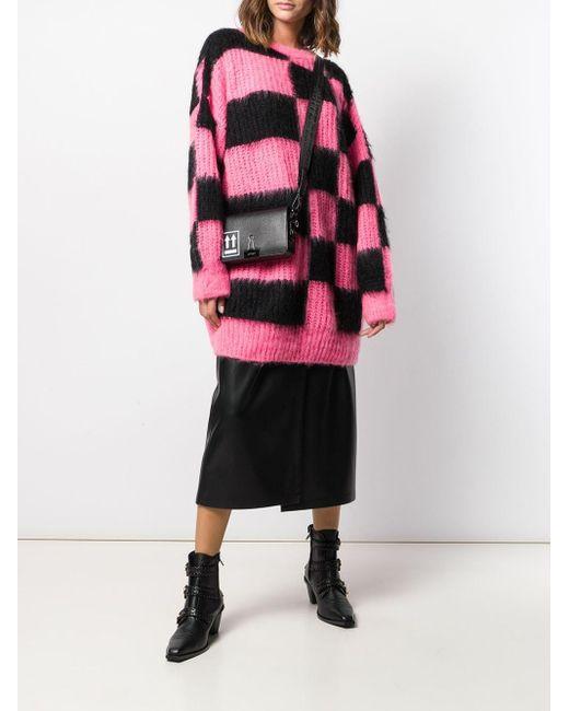 Свитер Оверсайз В Клетку MSGM, цвет: Pink