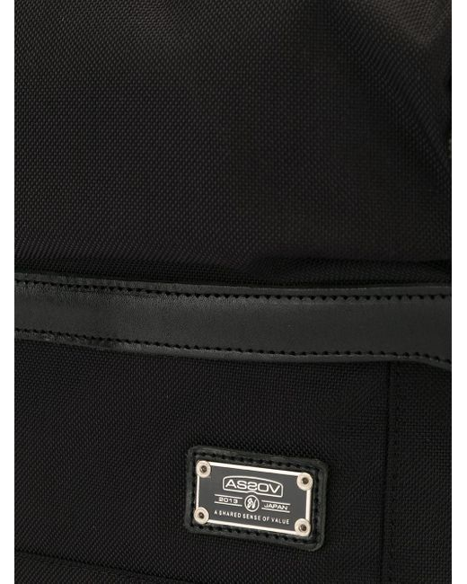 Sac porté épaule à poches multiples As2ov pour homme en coloris Black