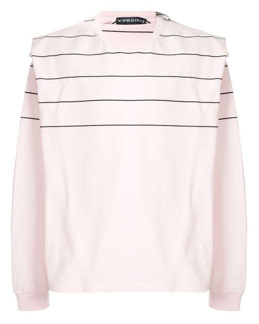 メンズ Y. Project レイヤード ロングtシャツ Pink