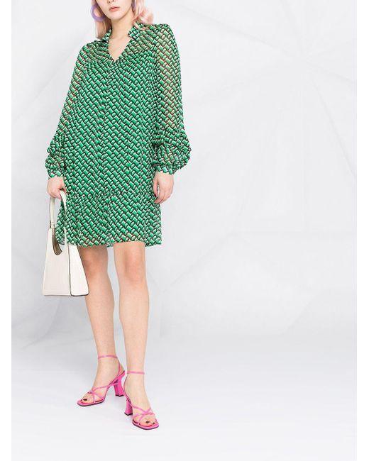 Diane von Furstenberg Heidi ドレス Green