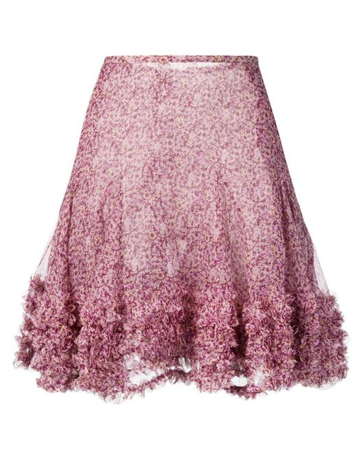 Stella McCartney フローラル ミニスカート Pink